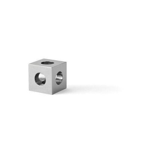 Cube świecznik na 1 świecę, stal nierdzewna - Menu