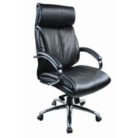 :: fotel biurowy tenace black leather marki Baldu visata