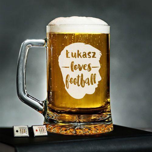 Mygiftdna Love football - personalizowany kufel - kufel do piwa