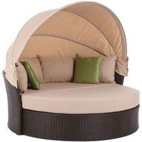 Meble ogrodowe  sofa z baldachimem sydney brązowy + darmowy transport! marki Home&garden
