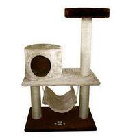 Yarro drapak comfort z budką, półką i hamakiem, podstawa 60x40cm, wys.100cm, beżowo-brązowy | darmowa dostawa