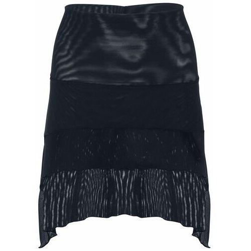 Elastyczna spódnica z połyskującym nadrukiem bonprix czarno-srebrny, kolor czarny