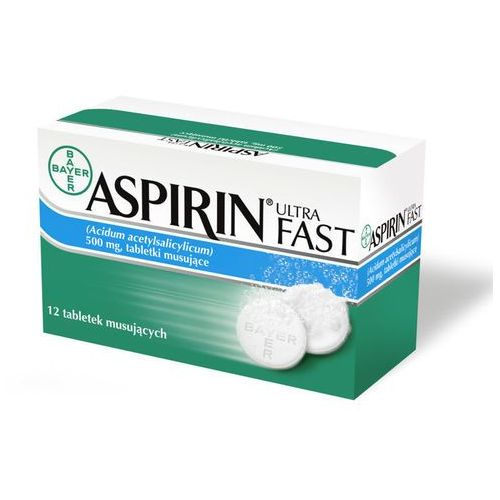 Tabletki ASPIRIN Ultra Fast x 12 tabletek musujących
