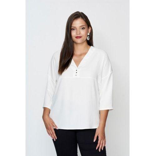 Everly ecru minimalistyczna koszula plus size marki 20inlove