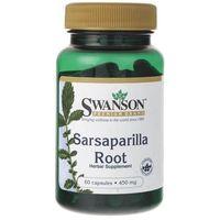 Swanson Sarsaparilla Root (Kolcorośl sarsaparyla) 450 mg - 60 kapsułek