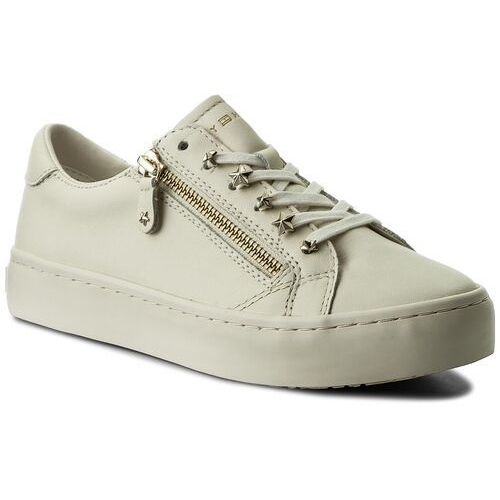 1443c285e78bb Tommy Hilfiger Sneakersy - star jeweld leather sneaker fw0fw02674 whisper  white 121