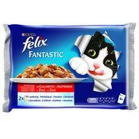 Felix fantastic saszetki 4x100g - wołowina / kurczak (7613033019425)