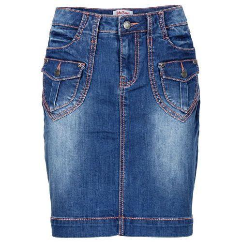 """Spódniczka dżinsowa """"authentic-stretch"""" niebieski, Bonprix, 34-50"""