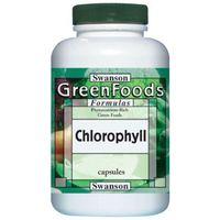 Kapsułki Swanson Chlorofil 60mg + Alfalfa (lucerna) 410mg 300 kaps.