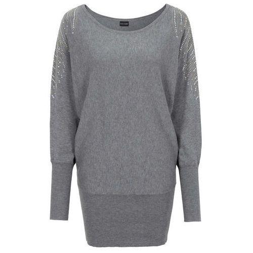 Sweter bonprix szary melanż, w 8 rozmiarach