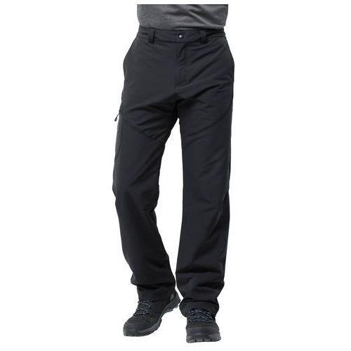 Jack wolfskin Spodnie męskie softshellowe chilly track xt pants men black - 54