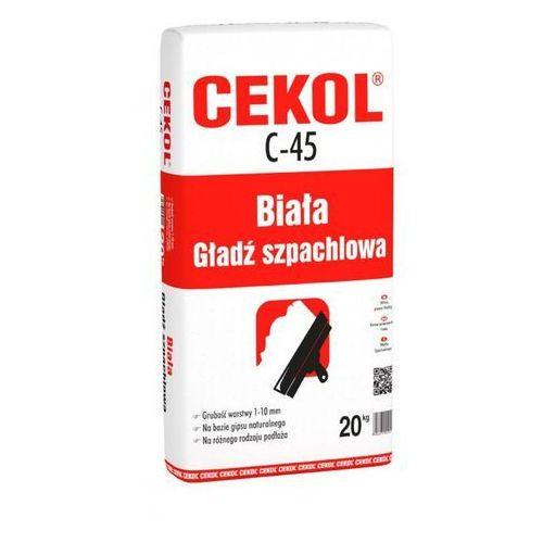 Cekol C-45 Biała gładź szpachlowa 20 kg (5906474450202)