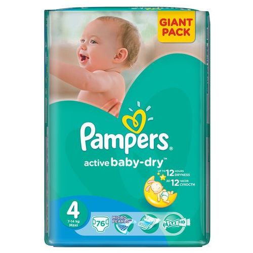 Pampers Active Baby - Dry Pieluchy rozmiar 4 maxi 76 szt