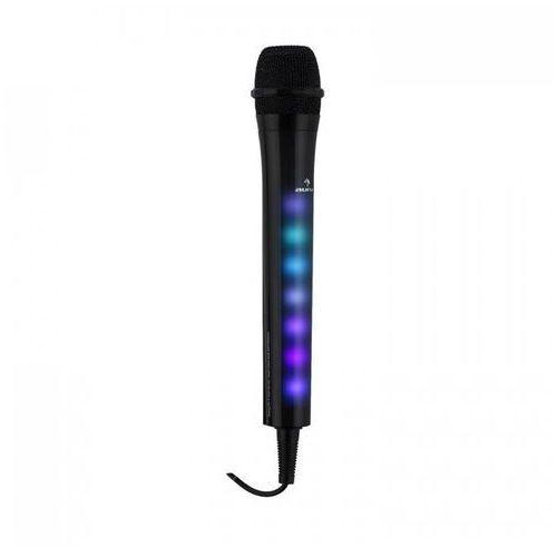 Kara dazzl mikrofon karaoke z efektem świetlnym led czarny marki Auna