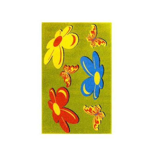 Dywan Motyle Zielony 100 X 160 Cm Wys Runa 9 Mm Weltom