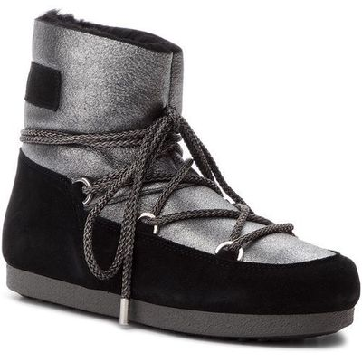 821bd74f2d06 Śniegowce MOON BOOT - F.Side Low Sh Stard 24200400002 Silver Black eobuwie .pl