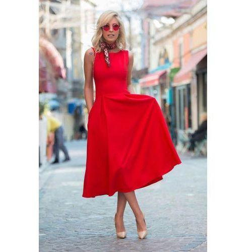 Sukienka MONICA RED, kolor czerwony