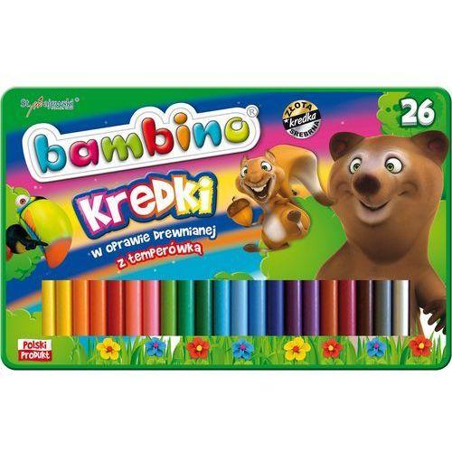 Kredki Bambino drewniane 26 kolorów + temperówka w opakowaniu metalowym (5903235003226)