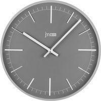 Lowell zegar ścienny 14947C srebrny, kolor szary
