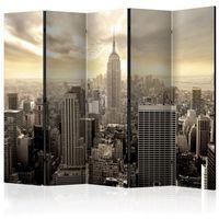 Parawan do mieszkania 5-częściowy - Światło Nowego Jorku II 225 szer. 172 wys.