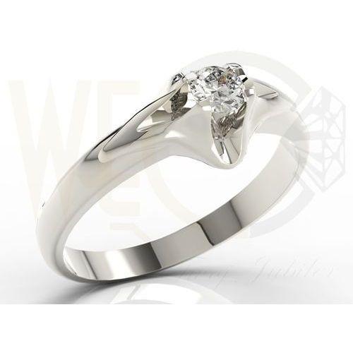 Węc Twój Jubiler Pierścionek Zaręczynowy Z Białego Złota Ap 1316b
