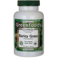 SWANSON Barley Grass 500mg- Jęczmień, 240 tabl