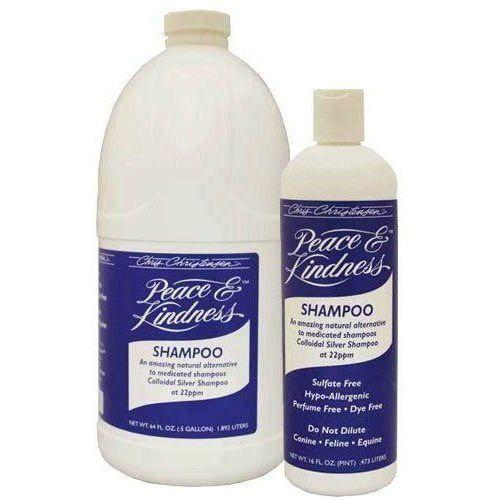 Chris christensen - peace & kindness shampoo - leczniczy szampon ze srebrem koloidalnym dla psów, kotów i koni, 473 ml