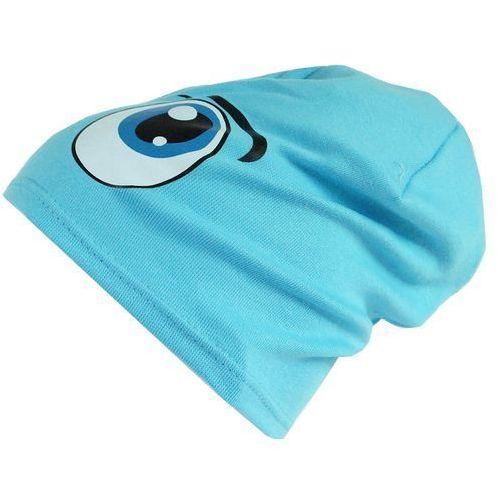 Czapka dziecięca bawełna oczy beanie krasnal ciamajda - cd06-1 marki Tara