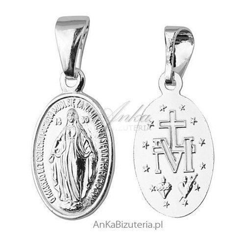 Anka biżuteria Medalik matka boska cudowna - srebrny medalik