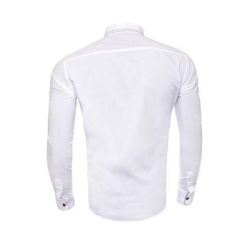 3b2163e3f606dc Koszula męska długi rękaw rl27 - biała, Risardi, M-XXXL ceny opinie ...