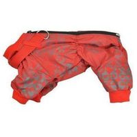 kombinezon ocieplany z obrożą kolor: czerwony a wymiary 29 x 46cm rozmiar 4 marki Chaba