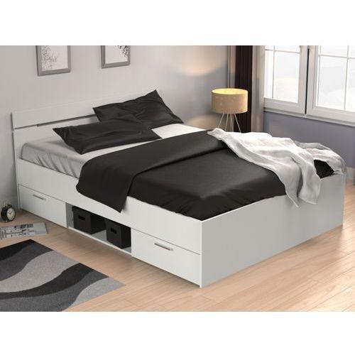 Łóżko gaspard z szufladami - 140 × 190 cm - biały marki Vente-unique
