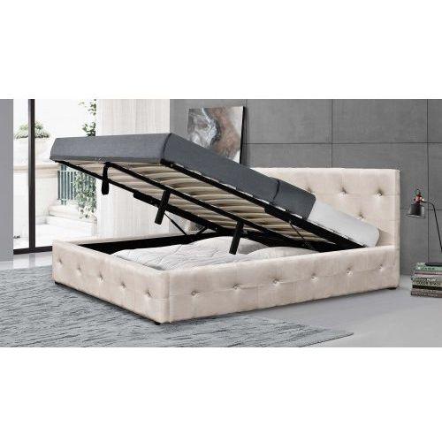 łóżko Tapicerowane Do Sypialni 140x200 1294g Beż Meblemwm