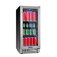 Klarstein Beerlager 88, lodówka na napoje, 88 l, 33 butelki, klasa efektywności energetycznej A, stal szlachetna, czarny