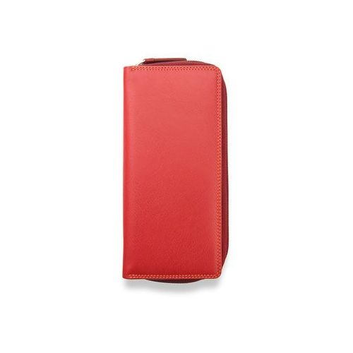 Visconti portfel damski skórzany rainbow rb55 czerwony multi - czerwony multi