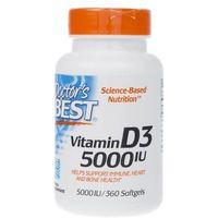 Kapsułki Doctor's Best Witamina D3 5000 IU - 360 kapsułek