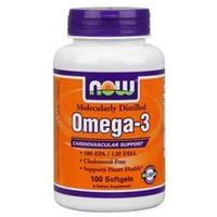 NOW Foods Omega-3, 100 tabl