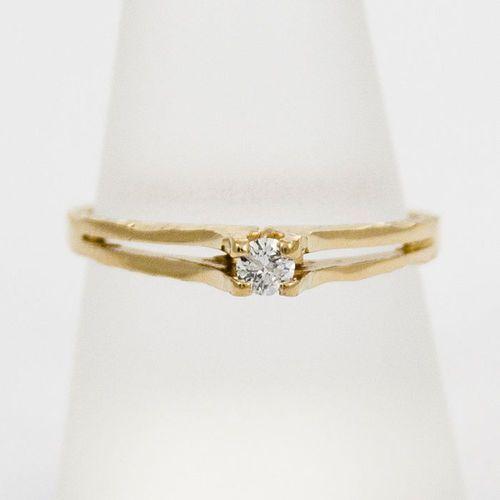 Złoty pierścionek z diamentem P1536, kolor żółty