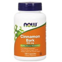 Kapsułki Now Foods Cinamon Bark (Cynamon kora) 600mg 120 kaps.