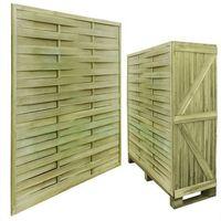 Vidaxl 30 impregnowanych, drewnianych, kwadratowych paneli ogrodzeniowych