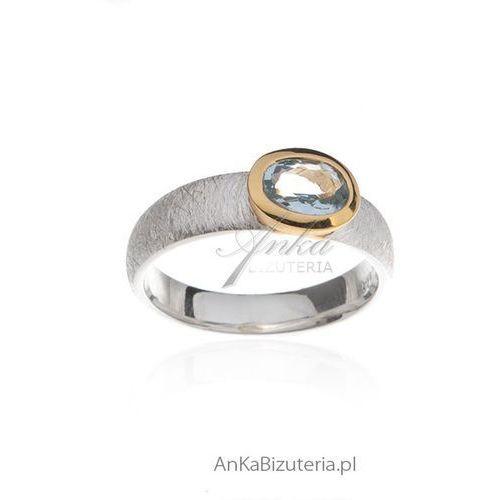 Pierścionek Zaręczynowy Pierścionek Srebrny Z Akwamarynem Anka