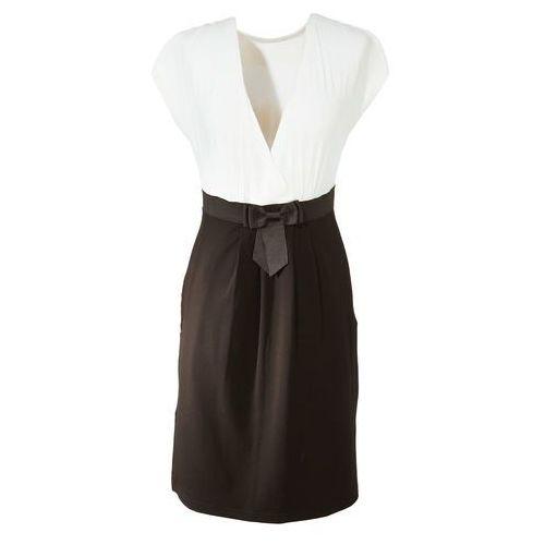 Sukienka ecru-czarny Bonprix