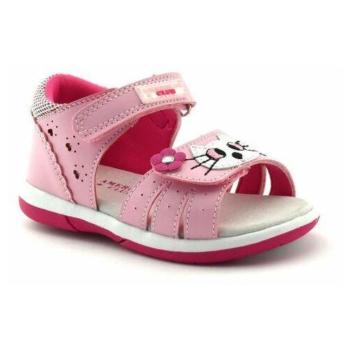 Sandały dla dzieci American Club DR 22/20 Pink - Różowy