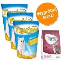 Pakiet: 3 x 5l crystals + concept for life 400 g - kitten marki Tigerino