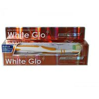 Atos White glo anti plaque - pasta plus szczoteczka gratis white glo anti plaque pasta do zębów usuwająca płytkę nazębną