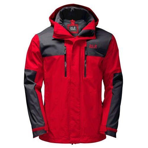 Przeciwdeszczowa kurtka męska JASPER FLEX MEN peak red - S, 1 rozmiar