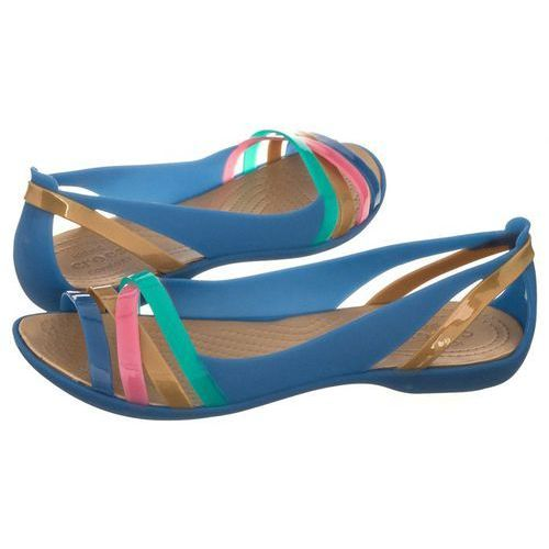 34e5bb63e0055 Sandały Crocs Isabella Huarache 2 Flat W Blue Jean Gold 204912-4HT (CR143