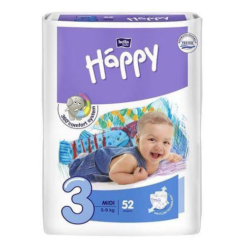 Pieluszki bella baby happy midi 5-9 kg - 52 szt. Tzmo s.a