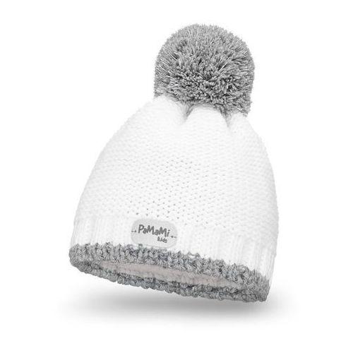 Pamami Zimowa czapka dziewczęca - biały - biały