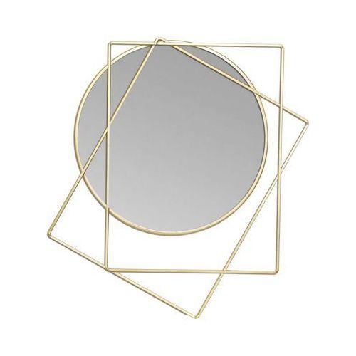 Lustro Dekoracyjne Nabesna Złote 47 X 52 Cm Splendid